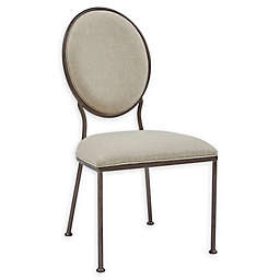 Pulaski Oval Back Dining Side Chair in Neutral/Dark Chocolate
