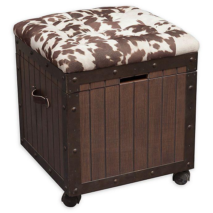Tremendous Pulaski Hair On Hyde Tufted Storage Ottoman Bed Bath Beyond Bralicious Painted Fabric Chair Ideas Braliciousco