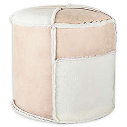 UGG® Patchwork Bean Bag Ottoman in Beige/White