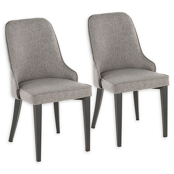 Alternate image 1 for LumiSource Nueva Dining Side Chairs in Grey (Set of 2)