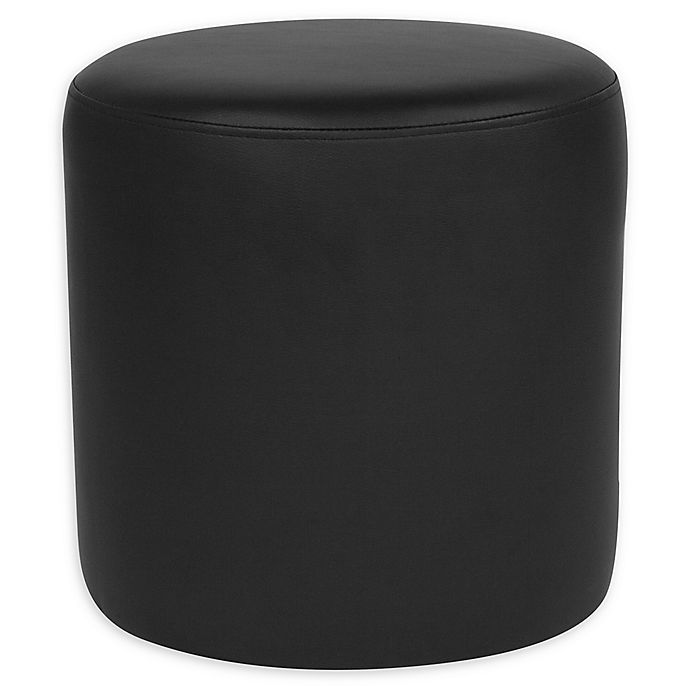 Fine Flash Furniture Barrington Round Leather Ottoman In Black Gmtry Best Dining Table And Chair Ideas Images Gmtryco