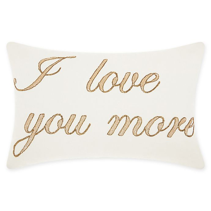 Alternate image 1 for Mina Victory By Nourison I Love You More Oblong Throw Pillow in Gold