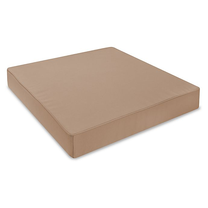 Alternate image 1 for 24-Inch Outdoor Seat Cushion in Sunbrella® Canvas Camel