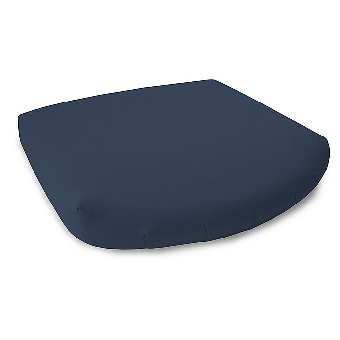 Alternate image 1 for 17-Inch Outdoor Seat Cushion in Sunbrella® Canvas Navy