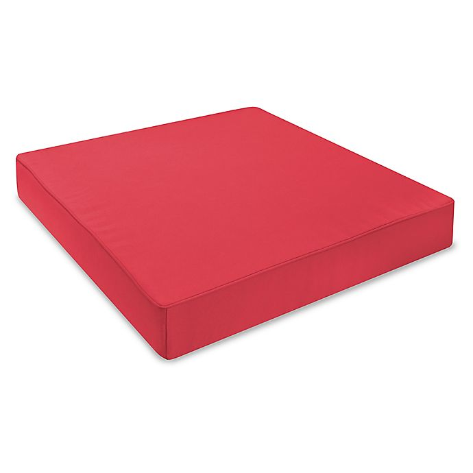 Alternate image 1 for 24-Inch Outdoor Seat Cushion in Sunbrella® Canvas Jockey Red