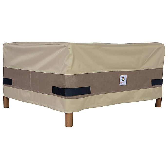 Alternate image 1 for Duck Covers Elegant 26-Inch Square Patio Ottoman/Side Table Cover in Coffee