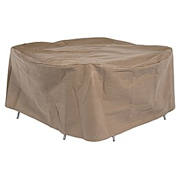 Duck Covers Essential Outdoor Round Table & Chairs Cover in Latte