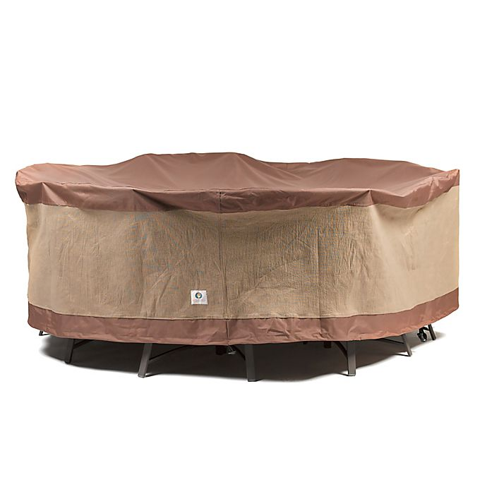 Alternate image 1 for Duck® Ultimate Series Round Patio Table and Chairs Cover in Mocha