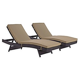 Modway Convene Outdoor Patio Chaises (Set of 2)