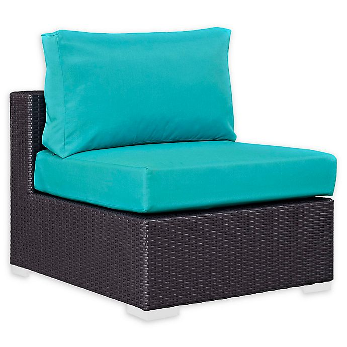 Alternate image 1 for Modway Convene Outdoor Patio Armless Chair