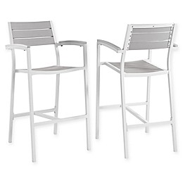 Modway Maine All-Weather Patio Bar Stools (Set of 2)