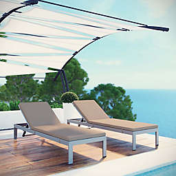Modway Shore Outdoor Chaise Lounger (Set of 2)
