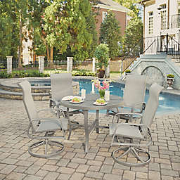 Home Styles Daytona Patio Furniture Collection in Charcoal Grey