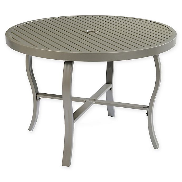 Round Dining Tables Ideas And Styles For Sophisticated: Home Styles Daytona Outdoor Round Dining Table In Charcoal