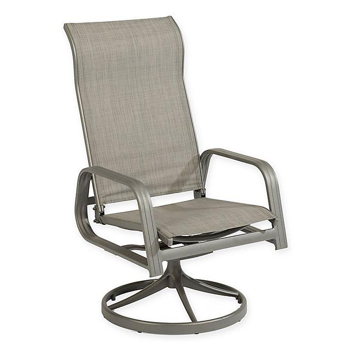 Home Styles Daytona Patio Sling Swivel Rocking Chair In