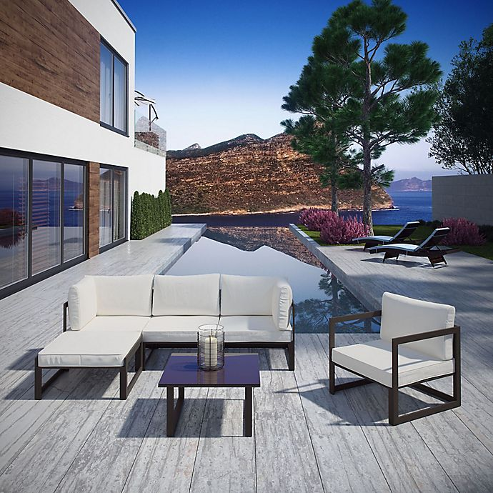 Alternate image 1 for Modway Fortuna 6-Piece Patio Lounge Sectional Set