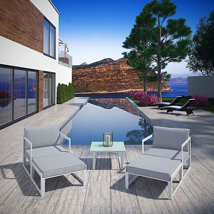 Alternate image 1 for Modway Fortuna 5-Piece Patio Sectional Set