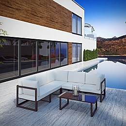 Modway Fortuna 6-Piece Patio Sectional Sofa Set