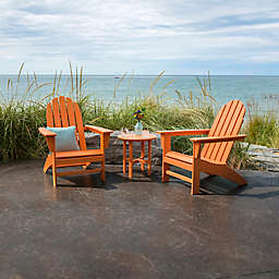POLYWOOD® Vineyard 3-Piece Adirondack Set in Tangerine