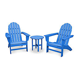 POLYWOOD® Vineyard 3-Piece Adirondack Set in Blue