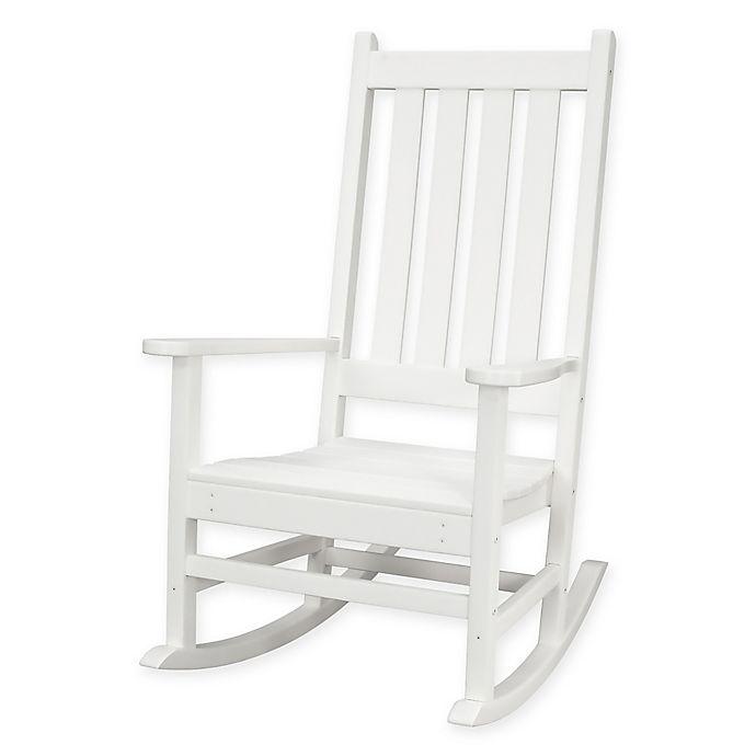 Alternate image 1 for POLYWOOD® Vineyard Porch Rocker in White
