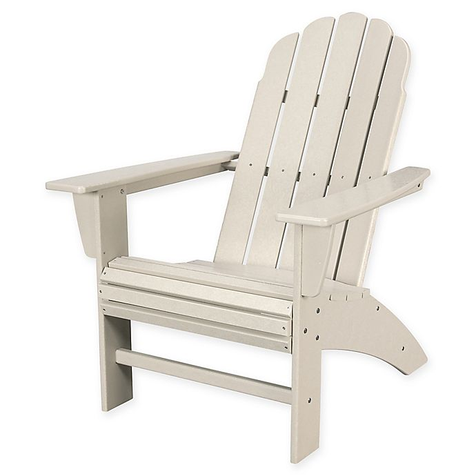 Alternate image 1 for POLYWOOD® Vineyard Curveback Adirondack Chair in Sand