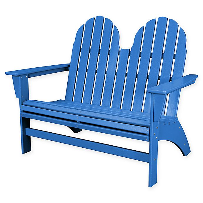 Alternate image 1 for POLYWOOD® Aruba Vineyard Adirondack Bench in Blue