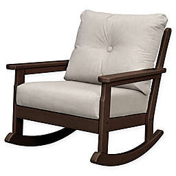 POLYWOOD® Vineyard Deep Seated Rocking Chair with Cushion