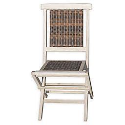 Viro Indoor/Outdoor Folding Chair in Rustic White