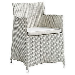 Modway Junction Dining Outdoor Patio Arm Chair in Grey/White