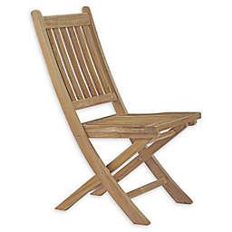 Modway Marina Outdoor Patio Armless Chair in Teak