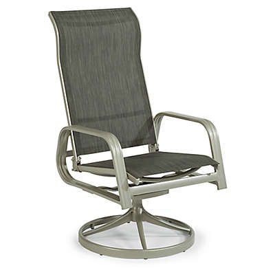 Home Styles South Beach Sling Rocking Chair in Grey