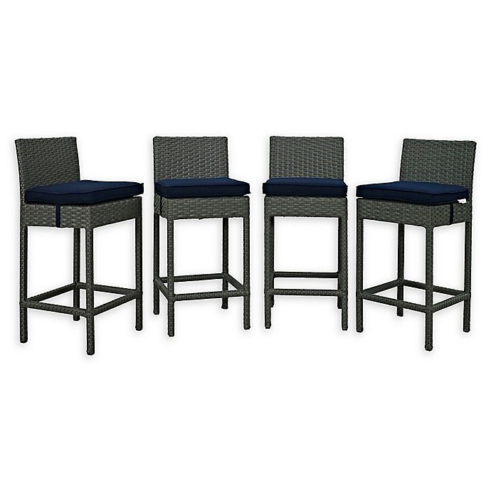 Alternate image 1 for Modway Sojourn Outdoor Patio Barstools (Set of 4)