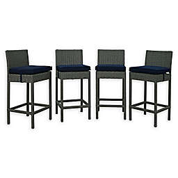 Modway Sojourn Outdoor Patio Barstools (Set of 4)