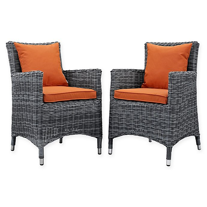 Alternate image 1 for Modway Summon Outdoor Patio Arm Chairs (Set of 2)