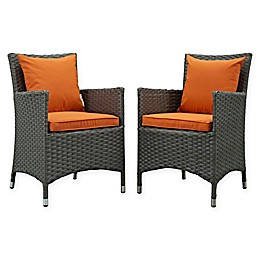 Modway Sojourn Outdoor Patio Dining Armchairs (Set of 2)