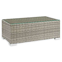 Modway Repose Outdoor Patio Coffee Table in Light Grey
