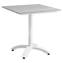 Modway Maine 28-Inch Outdoor Patio Dining Table in White/Light Grey