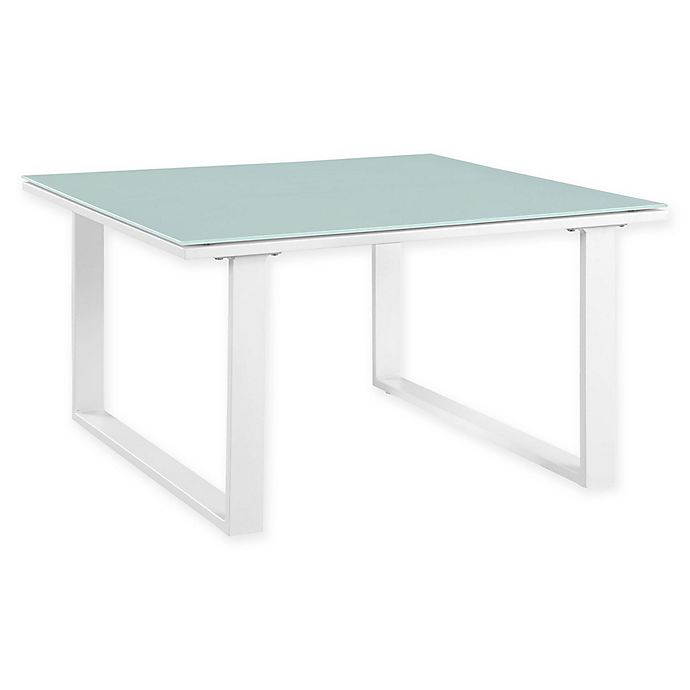 Alternate image 1 for Modway Fortuna Outdoor Patio Side Table in White