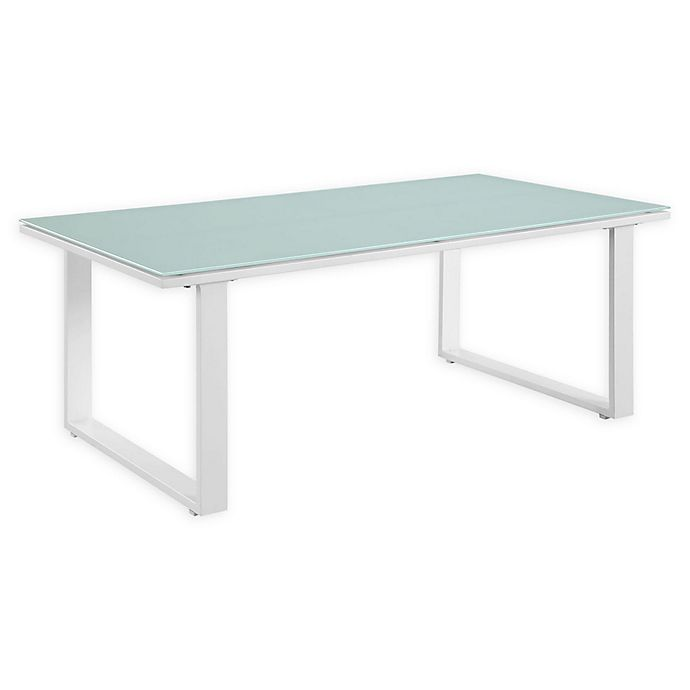 Alternate image 1 for Modway Fortuna Outdoor Patio Coffee Table in White