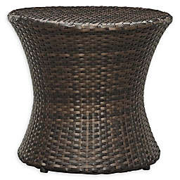 Modway Stage Outdoor Round Side Table in Brown