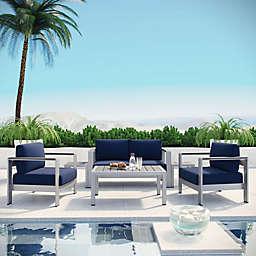 Modway Shore 6-Piece Outdoor Patio Sofa Set