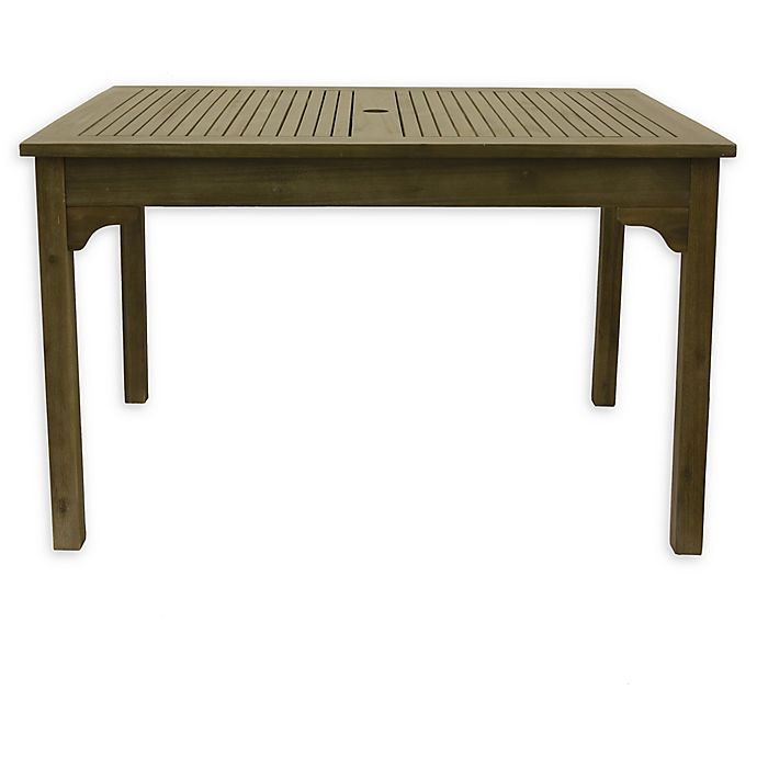 Alternate image 1 for Décor Therapy Well Rectangle Outdoor Table in Fern