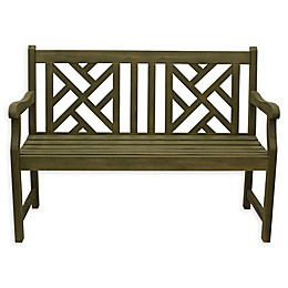 Décor Therapy Atlantic All-Weather Acacia Wood Bench