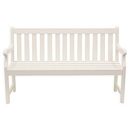 Décor Therapy Henley All-Weather Acacia Wood Outdoor Bench