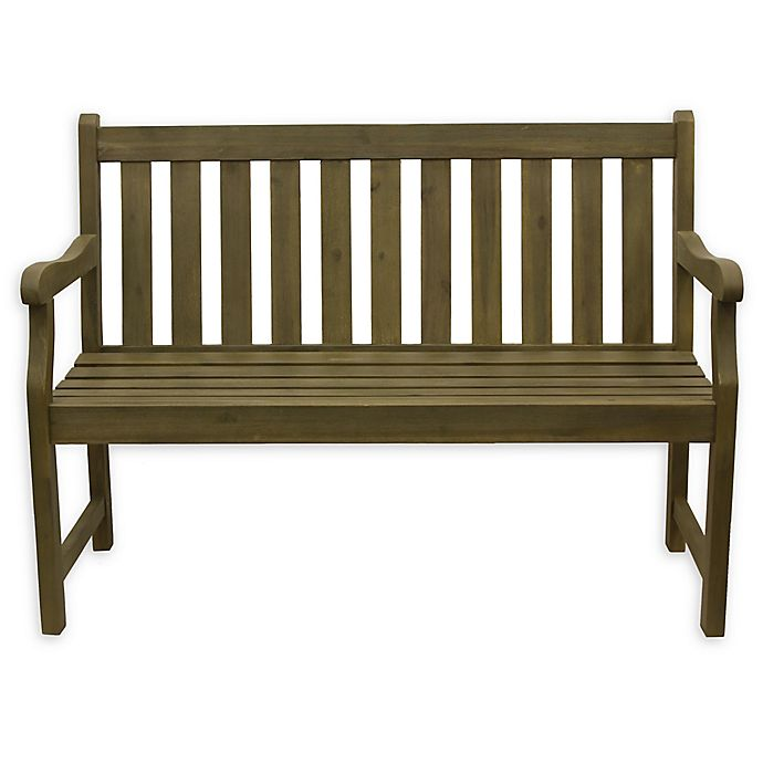 Alternate image 1 for Decor Therapy Henley 2-Seat Outdoor Bench in Brushed Fern