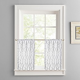 Colordrift Mandy Rod Pocket Window Curtain Tier Pair