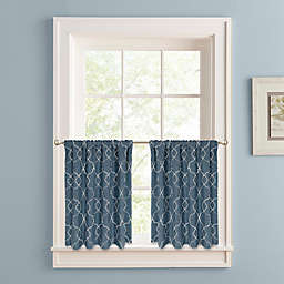 Colordrift Mandy 24-Inch Rod Pocket Window Curtain Tier Pair in Indigo