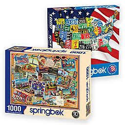 Springbok® Travel USA 2000-Piece Jigsaw Puzzles (Set of 2)