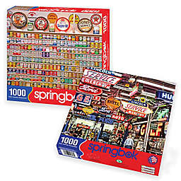 2-Pack 1,000-Piece Car-Themed Jigsaw Puzzles